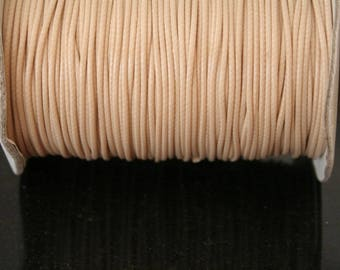 5 meters of waxed cotton cord, beige, synthetic. (ref:1527).