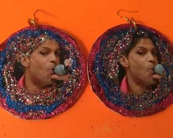 large bling glitter earings