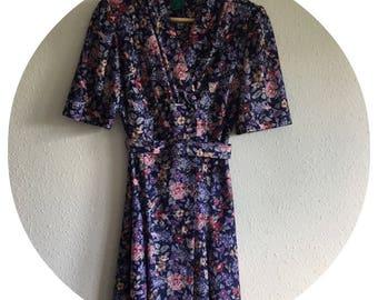 Vintage 70's C&A Floral Tea Dress Size 10 Petite