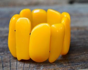 Vintage massive bakelite amber colour bracelet