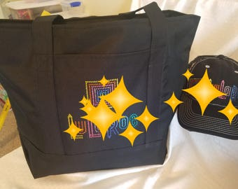 Large Corporate Tote with Rhinestones Customize Logo Business Bag Holiday Gift