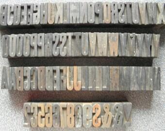 """1-5/16"""" Wood Letterpress Printer Blocks (SL)"""