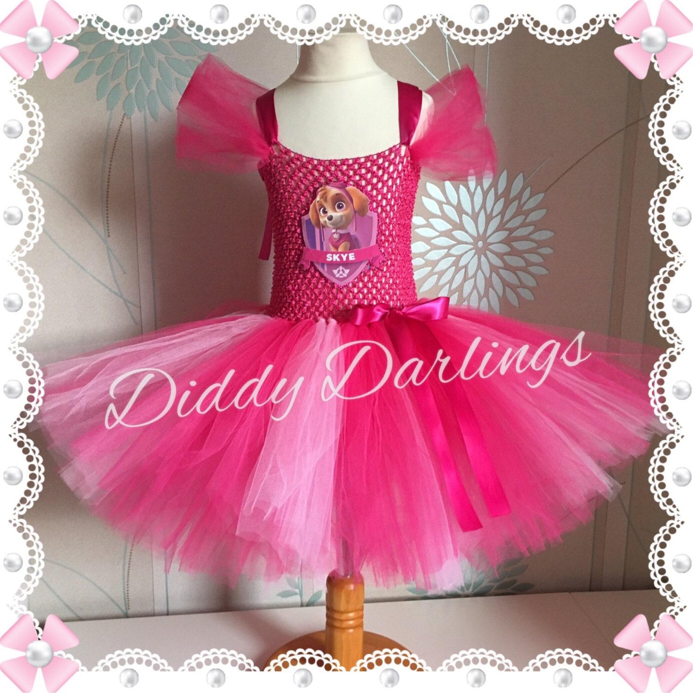 Skye Tutu Dress Paw Patrol Tutu Dress Inspired Handmade
