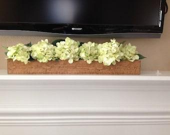 Rustic Wooden Mantel Wedding Centerpiece Box