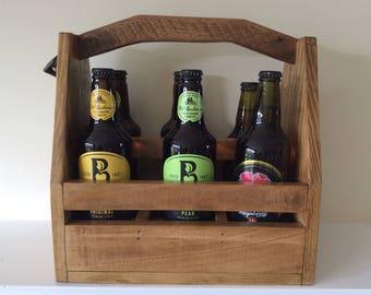 Handmade wooden bottle holder