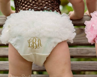 Monogrammed Bloomers, Infant Toddler Baby Bloomers, Girl Diaper cover, Monogrammed Diaper Cover, Baby Girl Bloomers