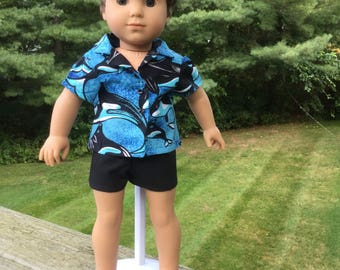 Shorts and shirt for 18 inch boy doll