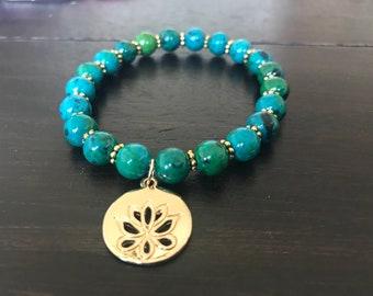 Jasper Lotus Bracelet