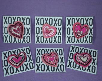 X's & O's - mini love/ valentine cards