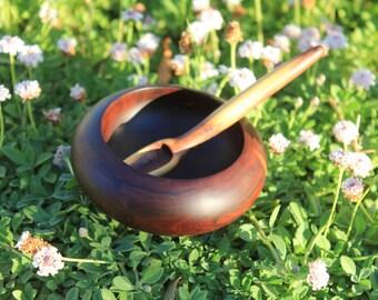 Mulga bowl / Dish and its mulga spoon - Hand made