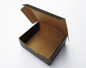 Small Black Box, Two Tone Black Kraft Box, Favor Box, Jewelry Packaging, Gift Box - Set of 20