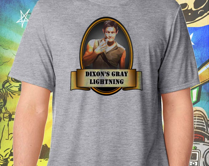 The Walking Dead / Season One / Daryl Dixon's Slow Gray Lightning / Men's Zombie Gray Performance T-Shirt