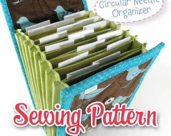PDF SEWING PATTERN - Circular Needle Organizer Knitting Needle Organizer ebook diy instant download