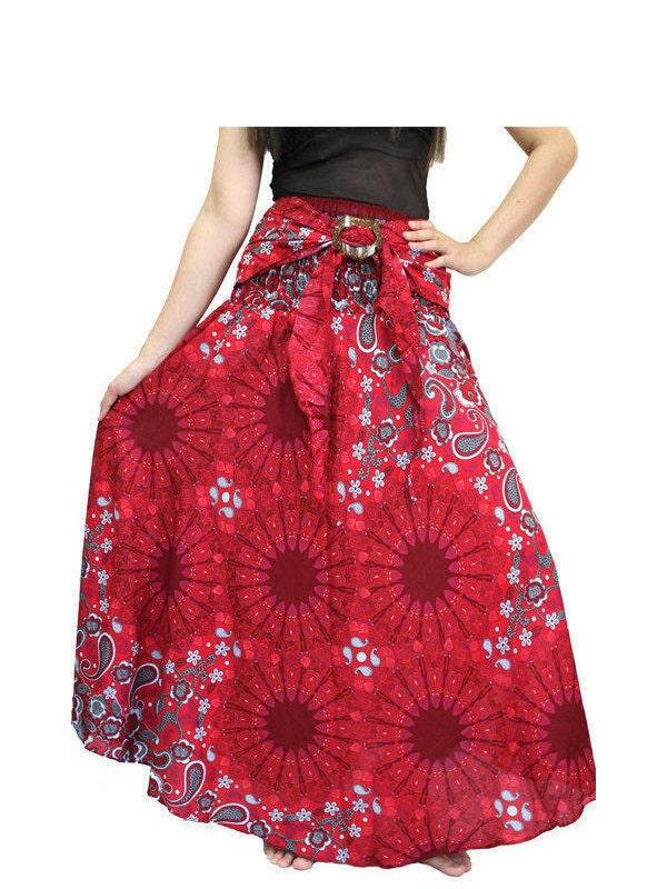 boh me jupe hippie v tements thai boho jupe jupe fleur jupe. Black Bedroom Furniture Sets. Home Design Ideas