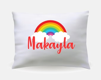 Personalized Rainbow Baby Children's Pillow Case // Personalized Bedding // Personalized Pillow // Personalized Blanket // Rainbow Bedding