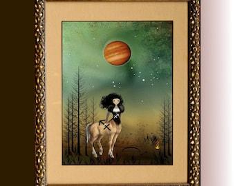 Zodiac Art Goth Girl Art Digital Painting ---  SAGITTARIUS -   Seen in Gothic Beauty Magazine