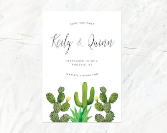 Desert Save the Date, Cactus Save the Date, Succulent Save the Date