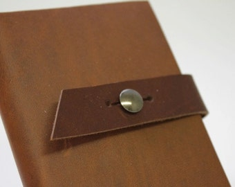 Strap closure for Moleskine leather covers, Leather strap and metal post