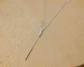 Bar Drop Necklace, Bar Drop Pendant, 925 Sterling Silver, Crystal Necklace Pendant, Bridesmaid Gift, Bridesmaid Necklace
