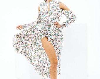 Wrap summer dress, off shoulder summer dress, maxi summer dress by Nadi Renardi