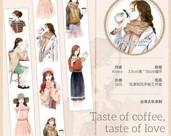 Washi tape Girl Washi Taste of Coffee Taste of Love Journaling Scrapbooking
