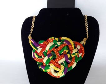 Double inter-woven strand necklace
