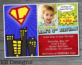 Superhero Comic Invitation