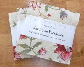 Jardin de Versailles designed by French General for Moda Fabrics...charm pack, 5 inch squares