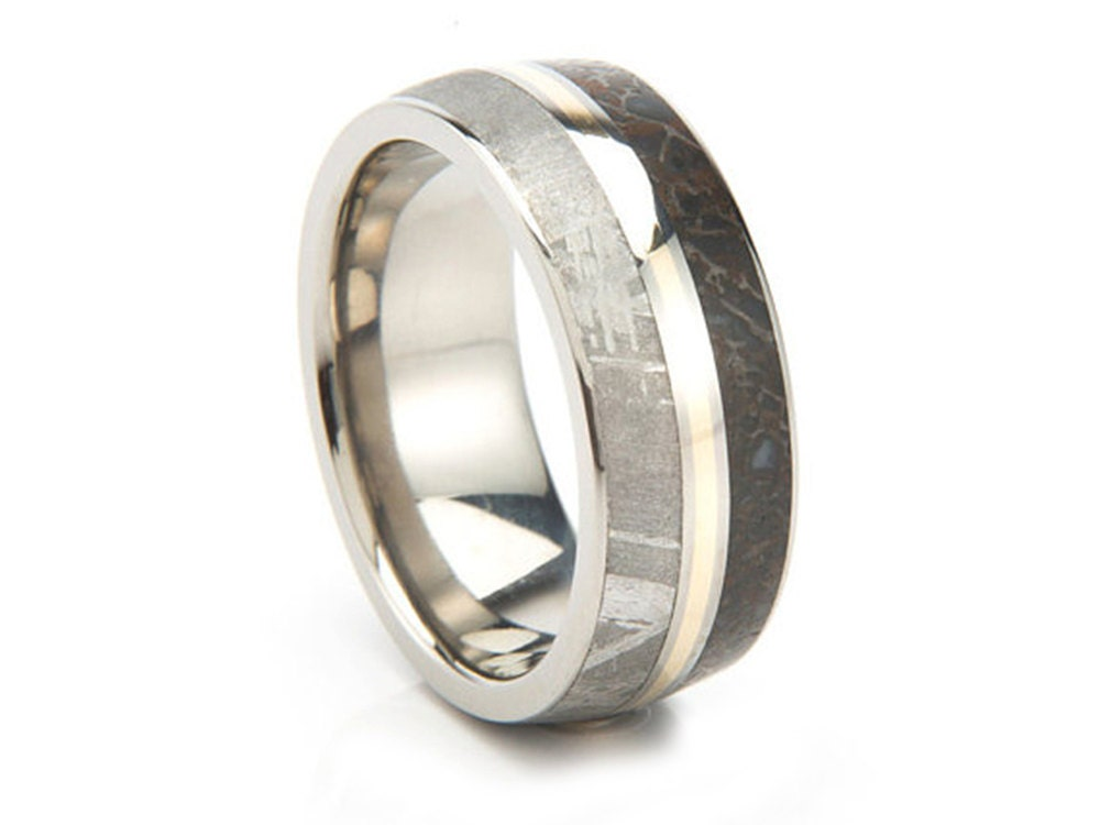 with jewelry rings titanium bands rowe meteorite by band e rugged brushed meteor collections johan wedding