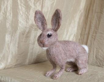 Needle Felted Rabbit - felt, wool, animal, wildlife, ornament, decoration
