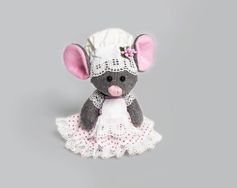 Toy gift Baby mouse Cute mouse Toy mouse Gray mouse Stuffed animal Toy for children Good gift Soft gift Collectible toy Original toy