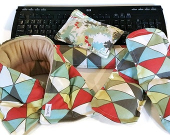 Office Relaxation, Heating Pad Gift Set, Desk Accessories, Neck Wrap, Keyboard Wrist Rest, Mouse Pad, Foot Pads, Co-worker Gift, Heat Pack