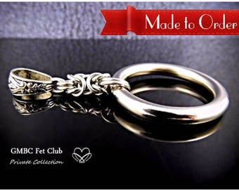 Made to Order - Discreet Day Collar Pendant - Steel Byznatine O Ring - Choose Your O Ring & Bail   (Chain not included)