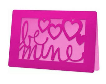 Be Mine , Valentine Card , Blank inside , Spouse , Partner , Teens , Guys , Gals , Hearts , Pink