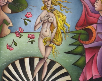 Original painting: the birth of Venus by Botticelli
