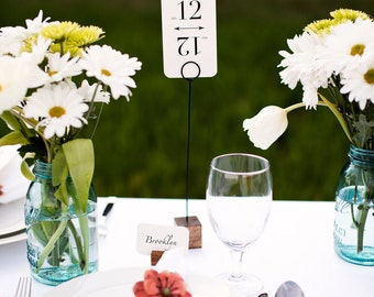 Wooden Square Table Number Holders (Set of 4)