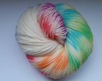 Everlasting gobstopper worsted weight 100% wool 100 gram skein