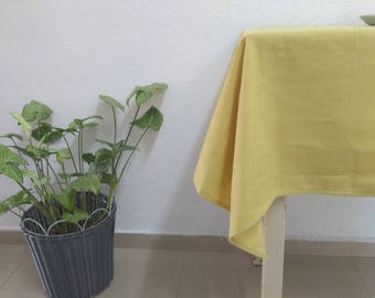 Yellow Linen Tablecloth For Kitchen Wedding Linen Tablecloths Linen Table Cloth Linen Rectangle Tablecloths Christmas Tablecloths