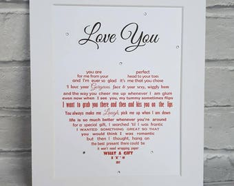 Wife Gift, Gift for Wife, Wife Birthday, Wife Anniversary gift, gifts for women, gifts for her, Anniversary, Birthday poem print