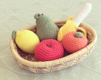 Crochet fruit basket