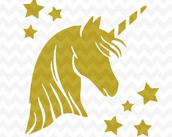 Unicorn SVG, unicorn head svg cutting file, unicorn head svg instant download, unicorn svg file for cricut and silhouette, svg files