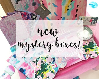 Lucky Dip Mystery Box, Worth 45+, Lucky Dip Box, Lucky Dip Bag, Stationery, Accessories, Art Print Surprise Box, Surprise Gift Mystery Box
