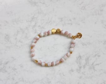 Personalized Bracelet, Letter Beads Bracelet, Friendship Bracelet with Anchor, Team Bride, Gift for Her, Bachelorette