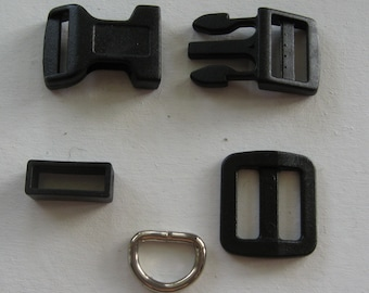 """Dog Collar Hardware 10 Sets 5/8"""""""