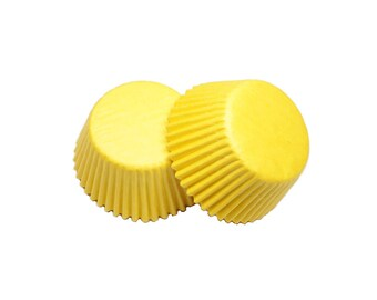 Yellow Glassine Baking Cupcake Liners Cups - 36 Standard Size Liners - Baking, Craft and Party Supplies
