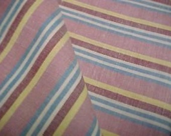 BEST Vintage Feedsack Quilt Fabric Woven Stripes Flour Sack 1940s New Old Stock