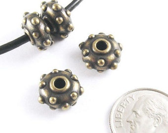 TierraCast 2mm Hole Beads For Leather-BRASS OXIDE RIVET 10mm (4)