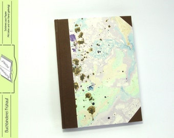 NotebookDIN A6 Diary marbled paper