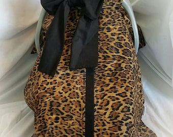 Cheetah carseat canopy, pin up canopy infant carseat cover