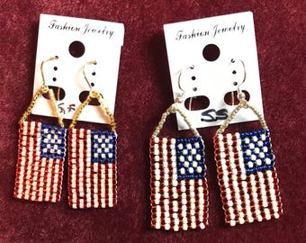 Ameirican Flag Earrings